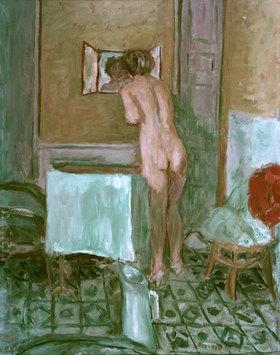 Pierre Bonnard: Nu a l'etoffe rouge ou Nu a la toilette