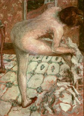 Pierre Bonnard: Nach dem Bad oder das orangefarbene Badezimmer
