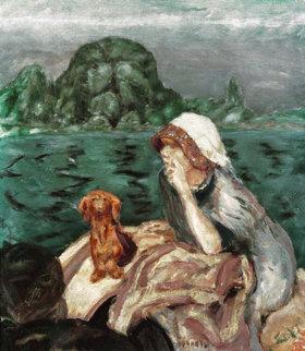Pierre Bonnard: La promenade en bateau à Vernon. Mme Bonnard
