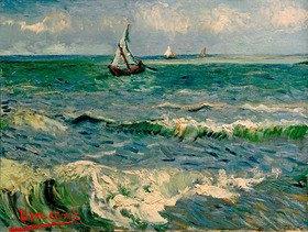 Vincent van Gogh: Das Meer bei Saintes-Maries-de-la-Mer