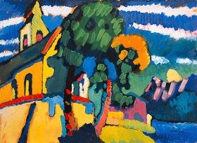 Wassily Kandinsky: Dorfkirche in Riegsee, Bayern
