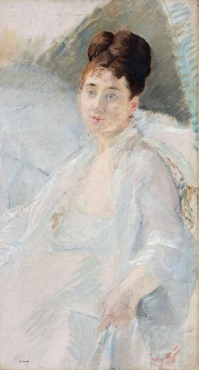 Berthe Morisot: Die Genesende. Porträt einer Frau in Weiß