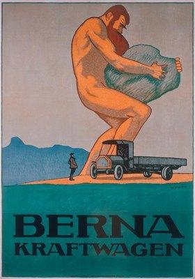 Berna Kraftwagen / Plakat