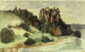 Albrecht Dürer: Ansicht eines Felsenschlosses an einem Fluss