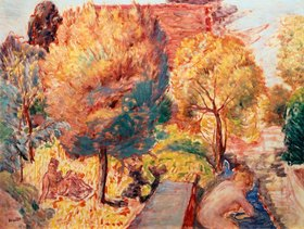 Pierre Bonnard: Landscape with Bathers