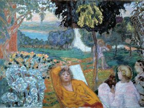 Pierre Bonnard: Evening or Siesta in a Garden in the South