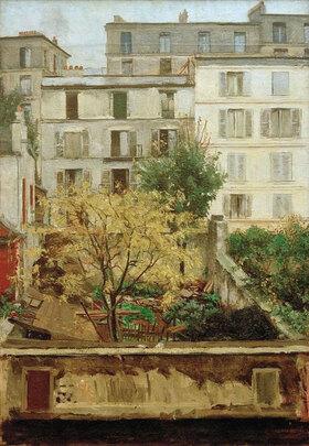 Maria Slavona: Häuser am Montmartre