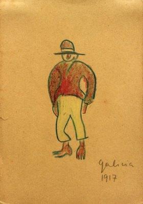 László Moholy-Nagy: Ohne Titel (Galizier mit gelben Hosen), 1917