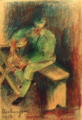 László Moholy-Nagy: Soldat beim Deckungsbau