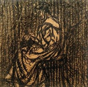 László Moholy-Nagy: Ohne Titel (Sitzende Frau, von links, bei der Handarbeit)