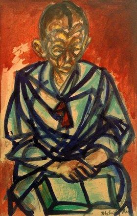 László Moholy-Nagy: Ohne Titel (Seemann Miklós, in Buch lesend)
