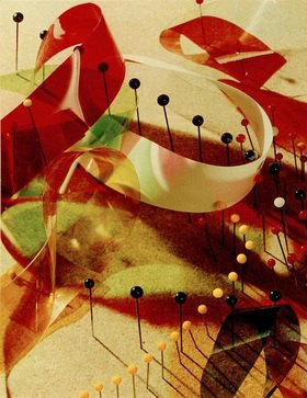 László Moholy-Nagy: Study with Pins and Ribbons (Studie mit Stecknadeln und Bändern)