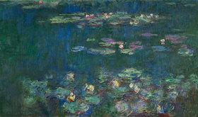 Le Bassin aux nymphéas sans saules, Ausschnitt, rechter Teil