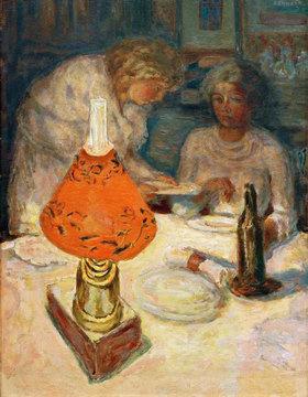 Pierre Bonnard: Der orangefarbene Lampenschirm