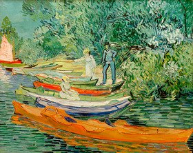 Vincent van Gogh: On the banks of the river Oise in Auvers