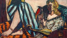 Max Beckmann: Frau mit rotem Hahn