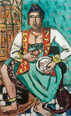 Max Beckmann: Frau mit Schlange (Schlangenbeschwörerin)