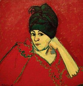 Alexej von Jawlensky: Helene mit dunkelblauem Turban