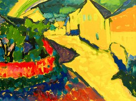 Wassily Kandinsky: Murnau, Landschaft mit Regenbogen. 1909