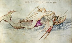 Albrecht Dürer: Arion wird von einem Delphin gerettet
