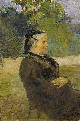 Max Klinger: Bildnis der Mutter des Künstlers