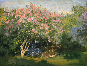 Claude Monet: Blühender Flieder in der Sonne