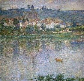 Claude Monet: Blick über den Fluss auf Vetheuil