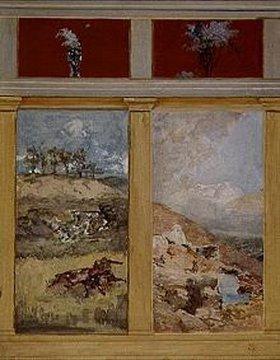 Max Klinger: Kämpfende Kentauren. Entwurf für die Wanddekoration der Villa Albers