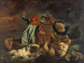 Eugene Delacroix: Dante und Virgil in der Hölle (oder: Die Dante-Barke)