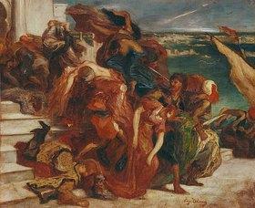 Eugene Delacroix: Türkischer Frauenraub