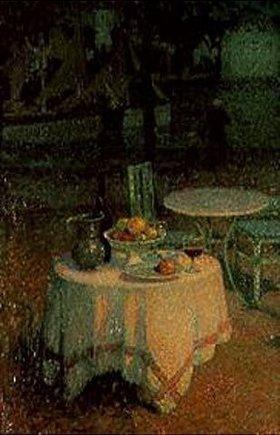 Henri Le Sidaner: Der kleine gedeckte Tisch am Hafen
