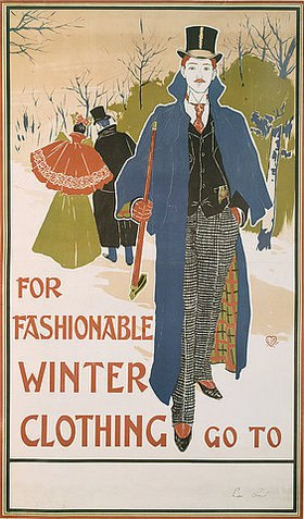 Louis John Rhead: For fashionable Winter Clothing
