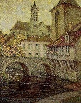 Henri Le Sidaner: Moret. Brücke, Kirche und Porte de Bourgogne