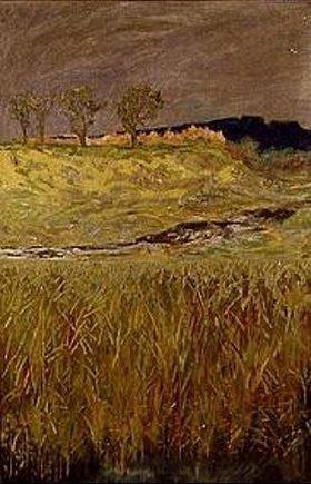 Max Klinger: Landschaft an der Unstrut. Wanddekoration für die Große Kunstausstellung Dresden