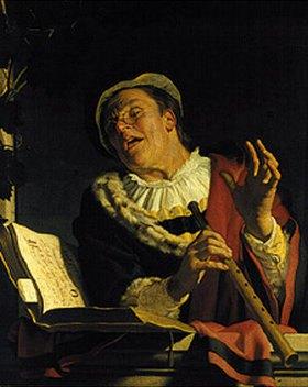 Gerrit van Honthorst: Der Flötenspieler