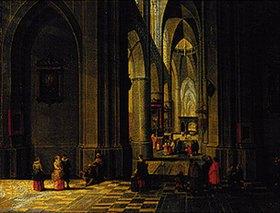 Pieter Neefs d.Ä.: Inneres einer dreischiffigen gotischen Kirche