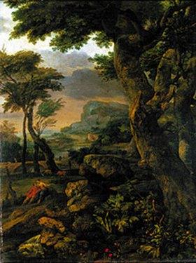 Eglon Hendrik van der Neer: Bergige Waldlandschaft