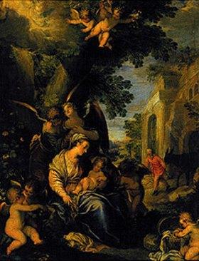 Johann Rottenhammer: Die heilige Familie