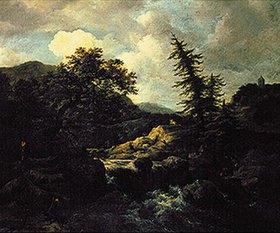 Jacob Isaacksz van Ruisdael: Berglandschaft mit Wildbach