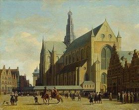 Gerrit Adriaensz Berckheyde: Die Groote Kerk in Haarlem