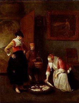 Quirin G.van Brekelenkam: Die Fischhändlerin. 1666(?)