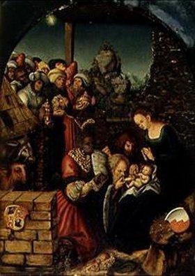 Lucas Cranach d.Ä.: Die Anbetung der hl.drei Könige