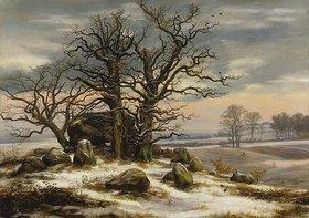 Johan Christian Clausen Dahl: Hünengrab im Winter
