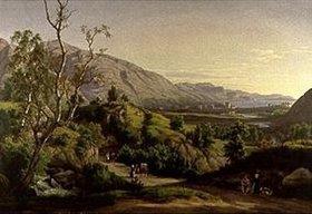 Johan Christian Clausen Dahl: Ansicht der Stadt Bergen in Norwegen