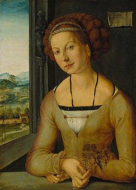 Albrecht Dürer: Bildnis der sogenannten Fürlegerin mit geflochtenem Haar