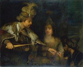 Aert de Gelder: Ahasver mit Mardochai und Esther