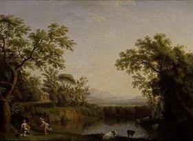Jacob Philipp Hackert: Ideale Landschaft mit Merkur und Paris