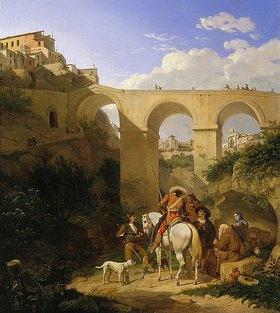 Carl Wilhelm Freiherr von Heideck: Die Brücke von Cuenca in Spanien