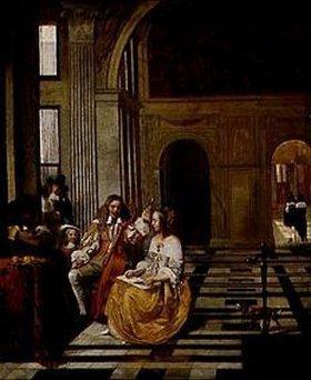 Pieter de Hooch: Musizierende Gesellschaft