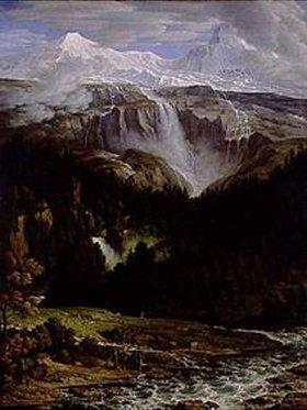Joseph Anton Koch: Schmadribachfall im Lauterbrunnen-Tal